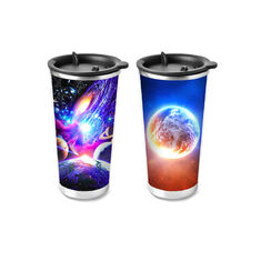 Customized PP / PET 3D Lenticular Cup Printing 75ml - 1500ml Non-toxic
